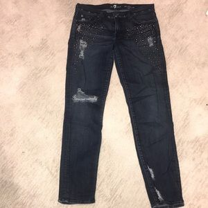 7 for all mankind Crystal stud jeans